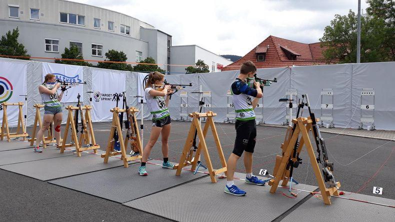 Bild: DSB / Ähnlich wie beim Biathlon müssen auch beim Target Sprint genaue Handlungsabläufe nach dem Schießen eingeübt werden, um keine Zeit zu verlieren.
