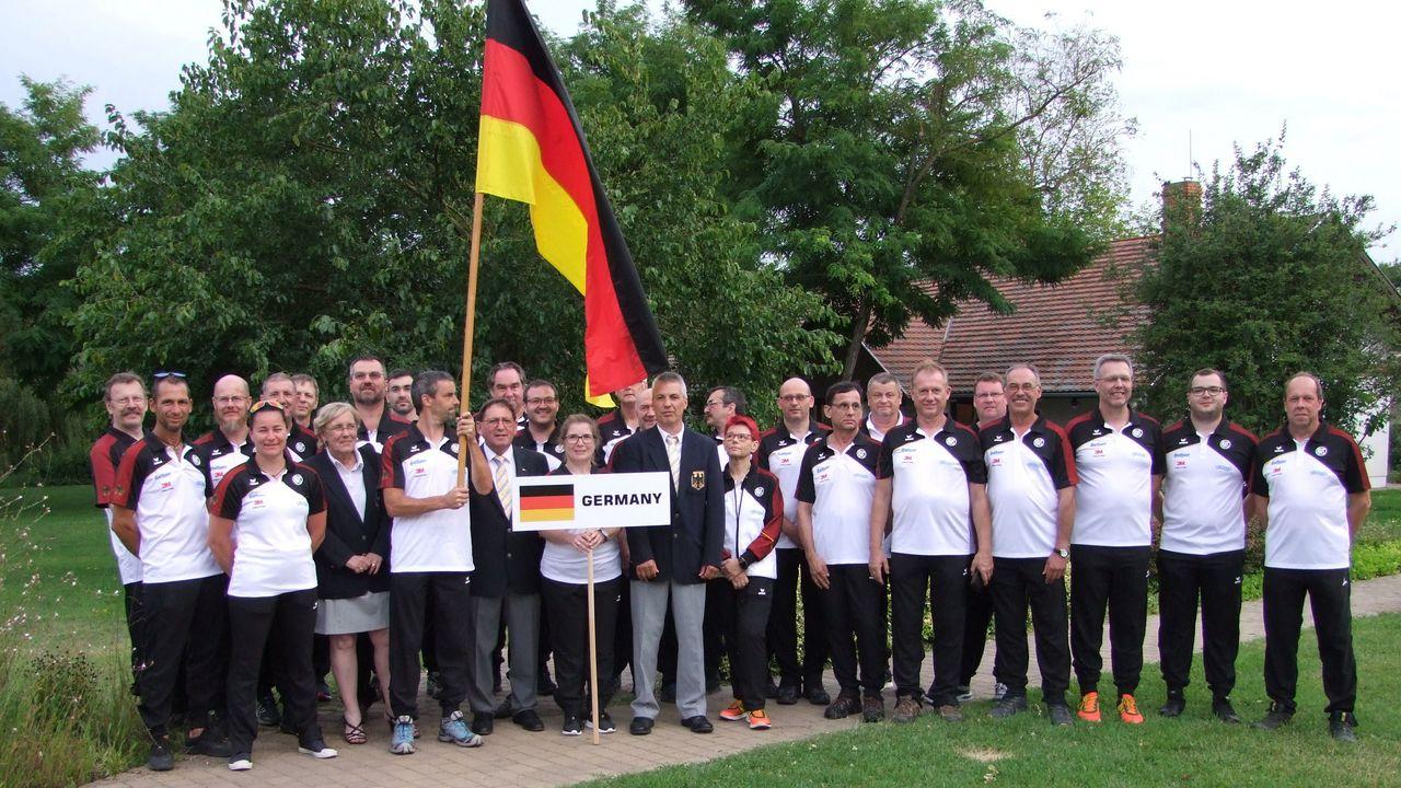 Foto: DSB / Das deutsche Team bei der Vorderlader-EM in Ungarn.