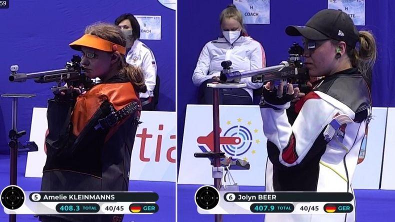 Foto: DSB / Es sollte nicht sein! Weder Amelie Kleinmanns (links) noch Jolyn Beer belohnten sich im Finale.