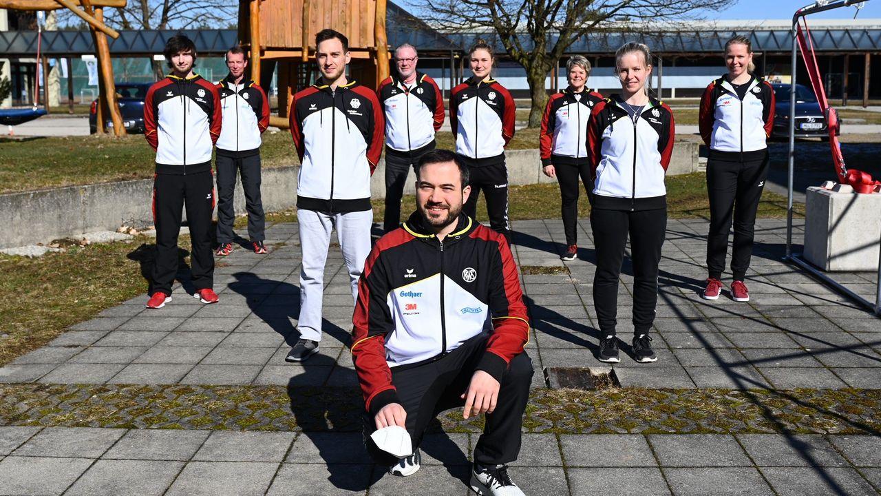 Foto: Michael Heise / So sieht das EM-Team Luftpistole der Frauen & Männer vorbehaltlich der Zustimmung des BA Spitzensport aus.