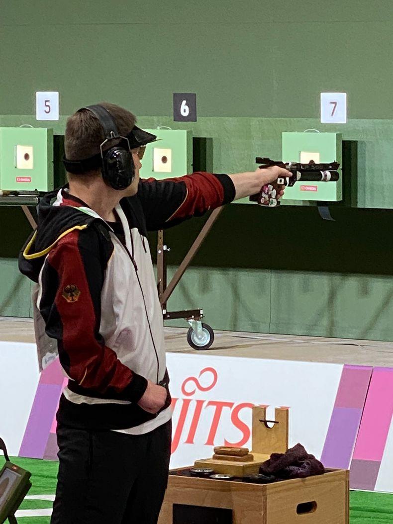 Bild: DBS / Tobias Meyer erreichte mit der Luftpistole Platz 15 bei seinem Paralympics-Debüt.