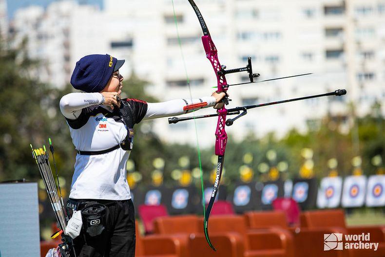 Foto: World Archery / Ließ die Pfeile gekonnt zu Bronze fliegen: Elisa Tartler.