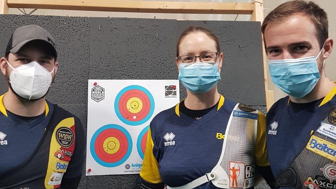 Foto: Beiter Team / Felix Wieser, Lisa Unruh und Florian Unruh schieden im Halbfinale der Indoor Series aus.