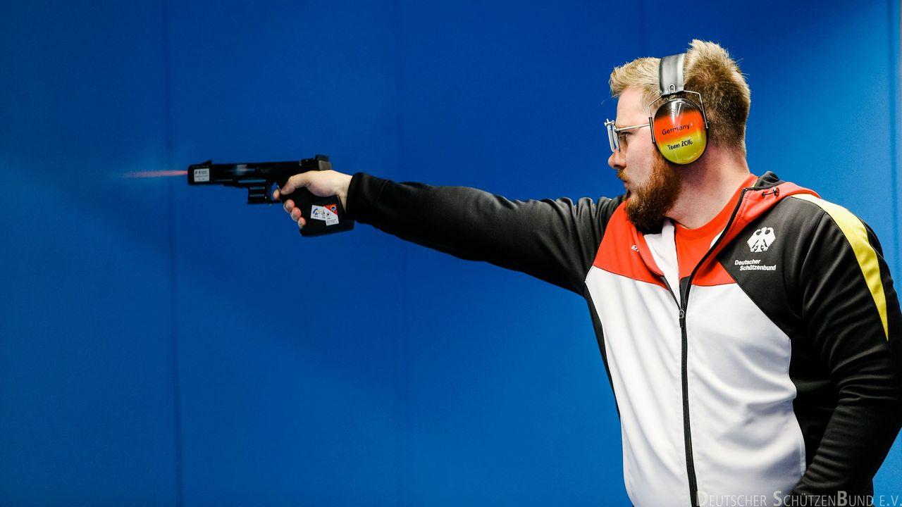 Foto: DSB / Oliver Geis will sich beim Weltcupfinale in Putian ins Finale schießen.