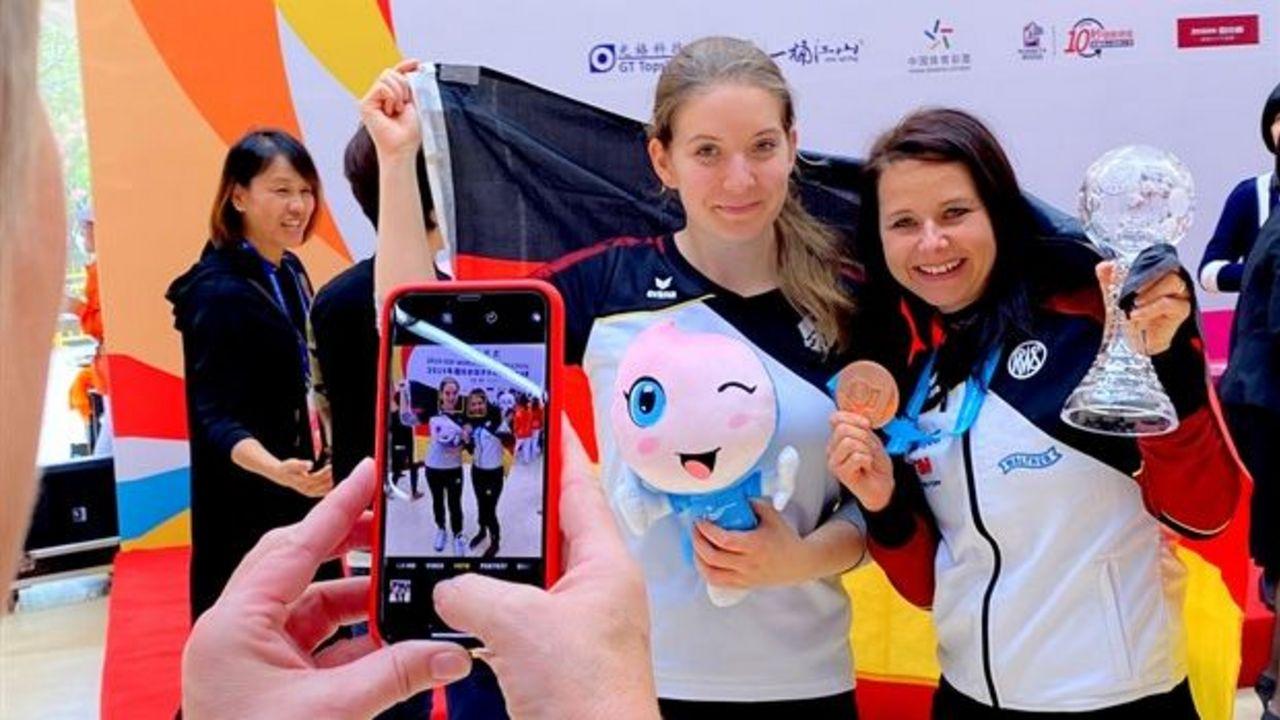 Foto: ISSF / Im Fokus: Monika Karsch als Dritte und Doreen Vennekamp als Vierte beim Weltcupfinale in Putian.
