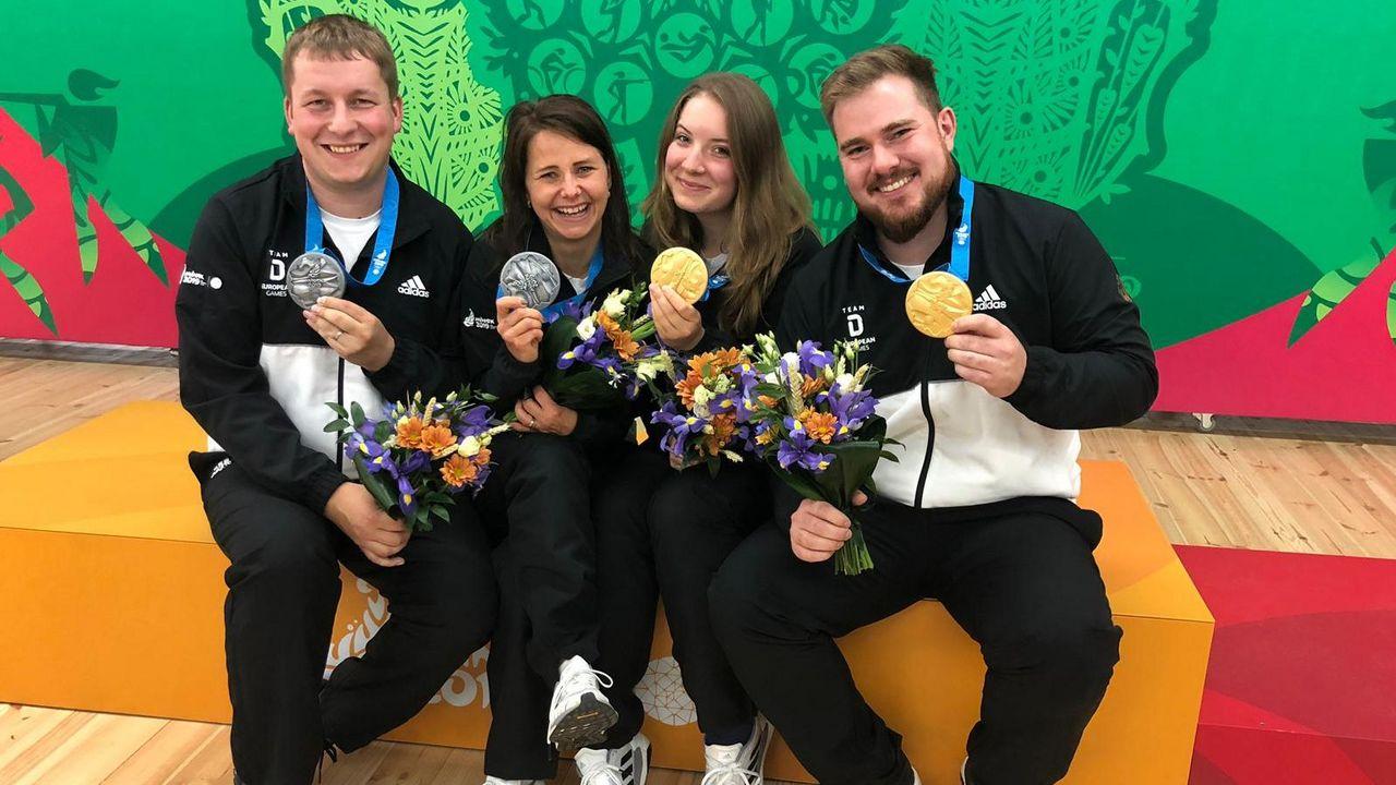 Foto: DSB / Doppelerfolg für das DSB-Team zum Abschluss der European Games.