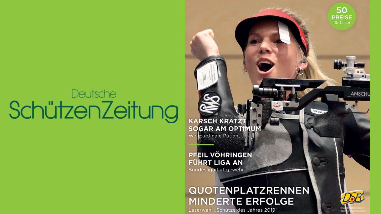Foto: DSZ / Julia Simon jubelt auf der Titelseite der aktuellen DSZ-Ausgabe.