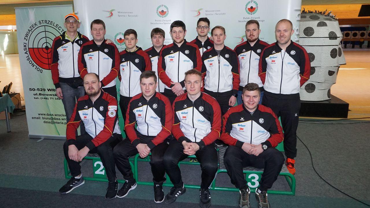 Foto: Grand Prix Jozef Zapedzki / Das deutsche Schnellfeuerpistolen-Team in Breslau.