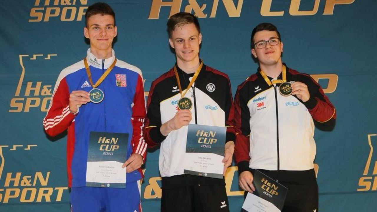 Foto: BSSB / Starker Pistolen-Nachwuchs! Gold für Nils Strubel und Bronze für Soren Korn.