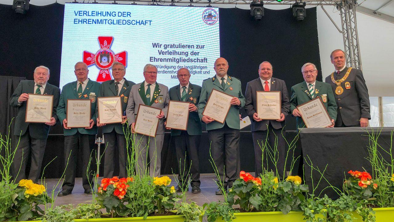 Foto: DSB / Geehrte des Deutschen Schützentages