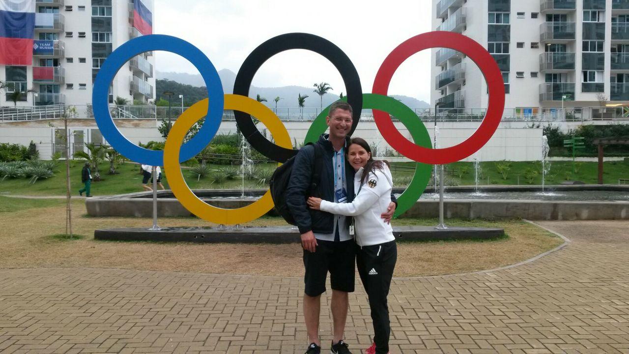 Bild: Monika Karsch / Das Ehepaar Karsch gemeinsam bei den Olympischen Spielen in Rio de Janeiro 2016.