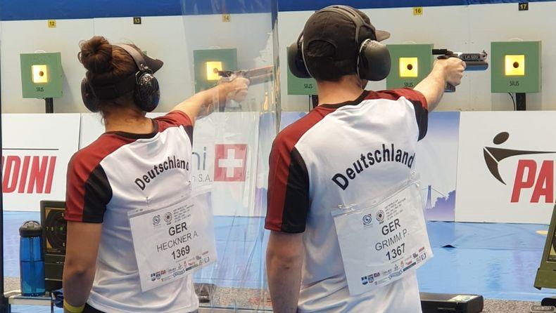 Foto: DSB / Andrea Heckner und Philipp Grimm harmonierten gut im Luftpistolen-Mixed.