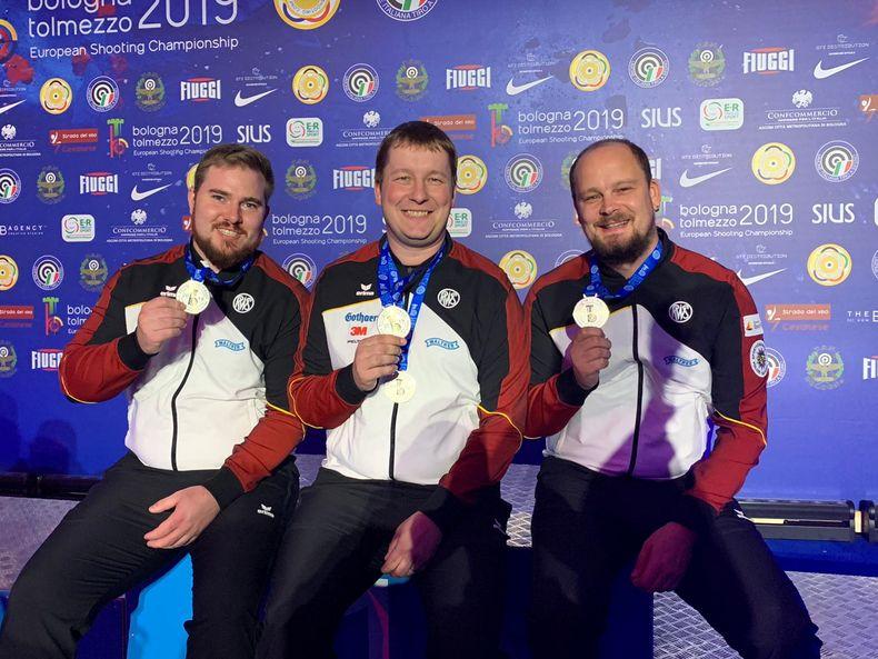 Foto: DSB / Die Silber-Jungs Oliver Geis, Christian Reitz und Mathias Putzmann.