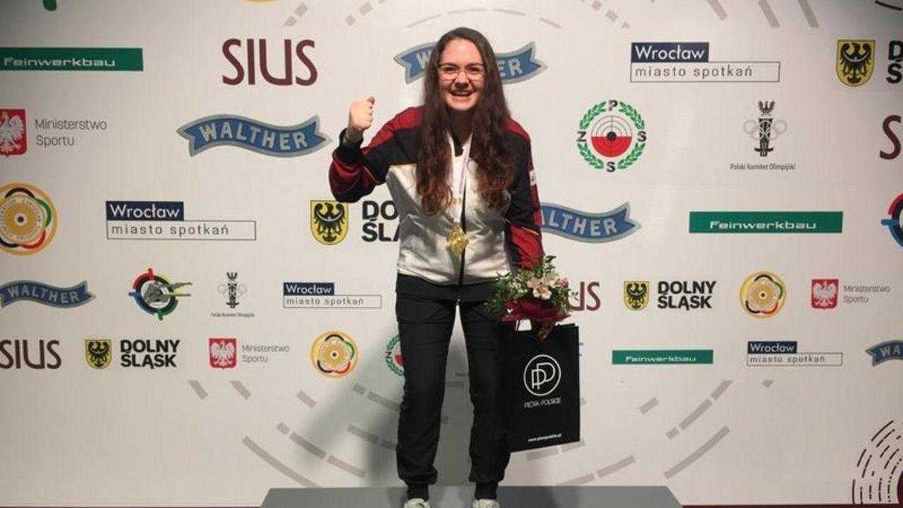 Foto: DSB / Gold-Triumph für Vanessa Seeger.