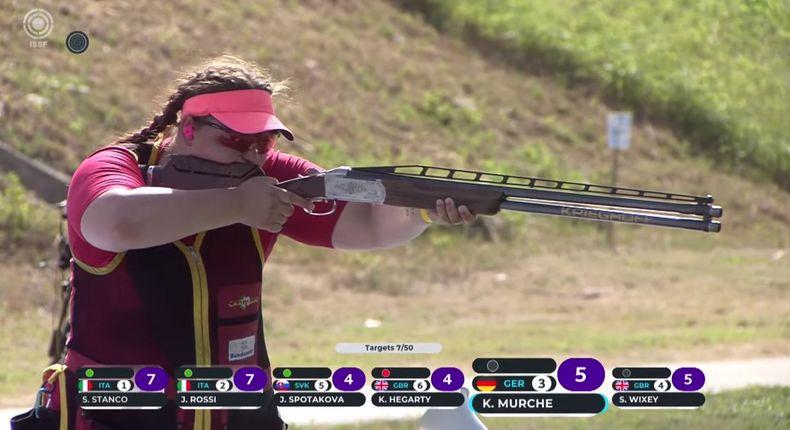 Foto: DSB / Kathrin Murche erzielte mit Platz fünf ihr bislang bestes Ergebnis bei einem Weltcup.