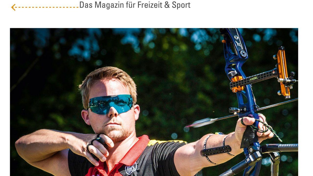 Foto: UZV / Cedric Rieger ist auf dem Titel des aktuellen Magazins.