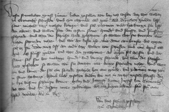 Ladbrief Cronberg, 1398