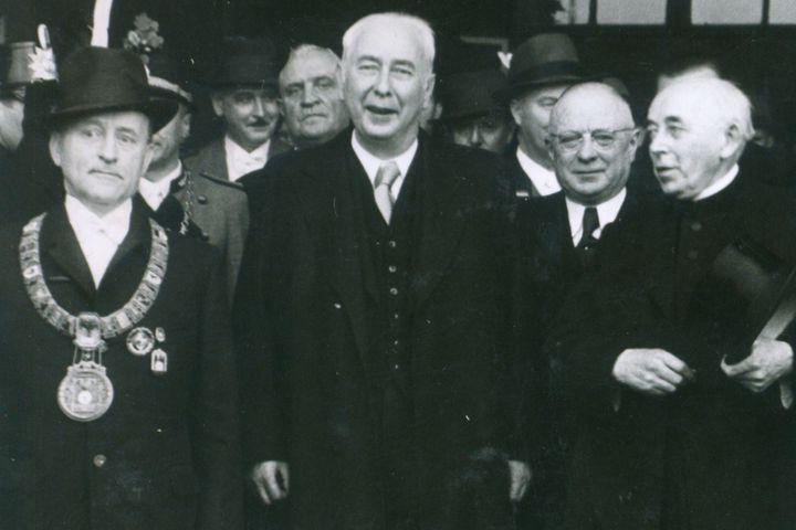 Bundespräsident Heuss und Dr. Wehner