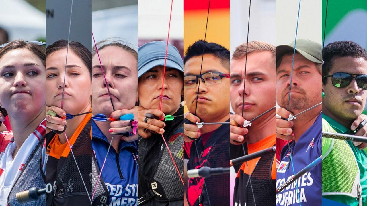 Foto: WA / Diese acht Recurve-Schützinnen und Schützen nehmen am Online-Turnier der WA teil.