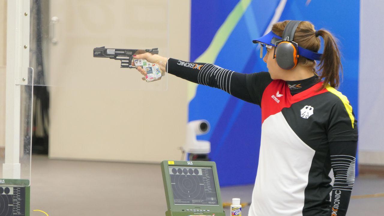 Foto: DSB / Monika Karsch hat für den DSB einen Quotenplatz mit der Sportpistole gewonnen und will sich intern für Tokio qualifizieren.