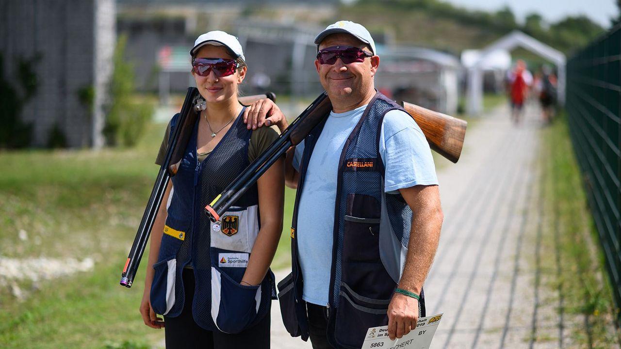 Bild: DSB / Wie der Vater so die Tochter: Eva-Tamara Reichert und Dimitri Reichert haben das gleiche sportliche Interesse und schafften es bereits beide zum Deutschen Meistertitel.