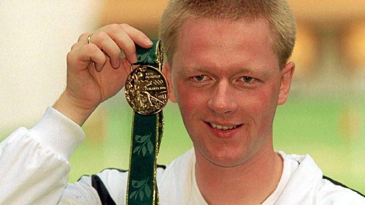 Foto: DSB / Christian Klees gewann 1996 Olympia-Gold, 23 Jahre später ist er beim Masters in Suhl am Start.