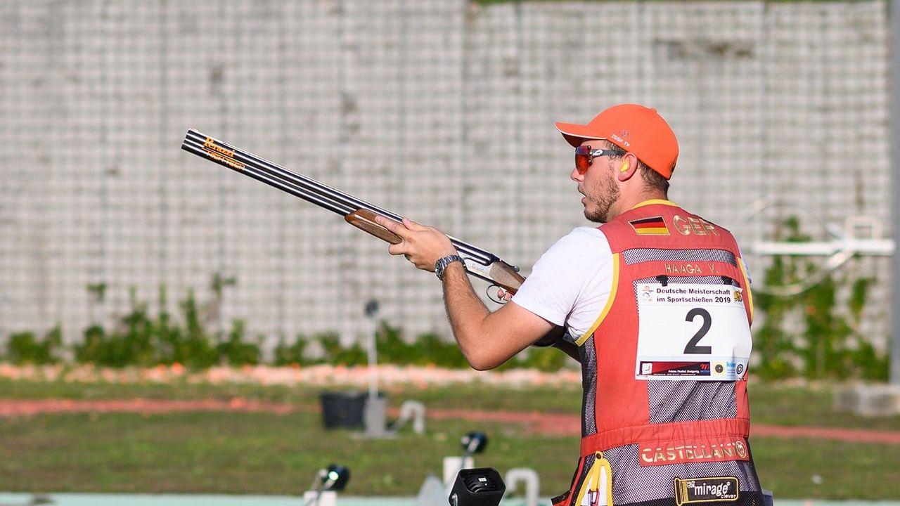 Bild: DSB / Skeet-Schützen wie Vincent Haaga müssen ihre Routinen tausendemal trainieren, um im entscheidenden Wettkampf in einen Flow-Zustand zu kommen.