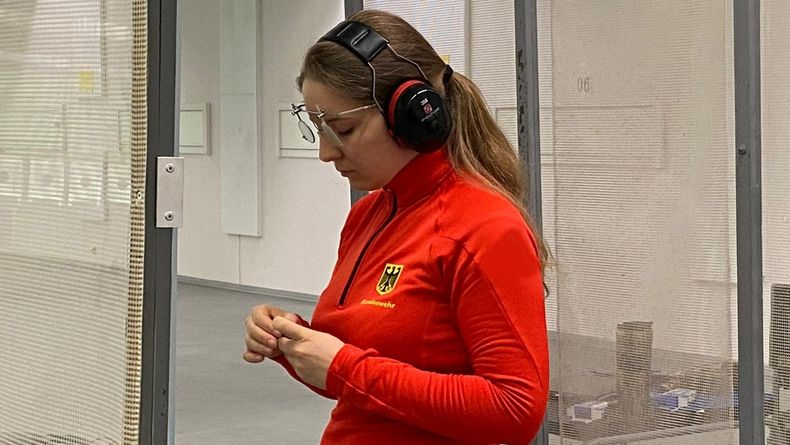 Foto: DSB / Erfolgreich konzentriert: Doreen Vennekamp liegt auf Kurs.