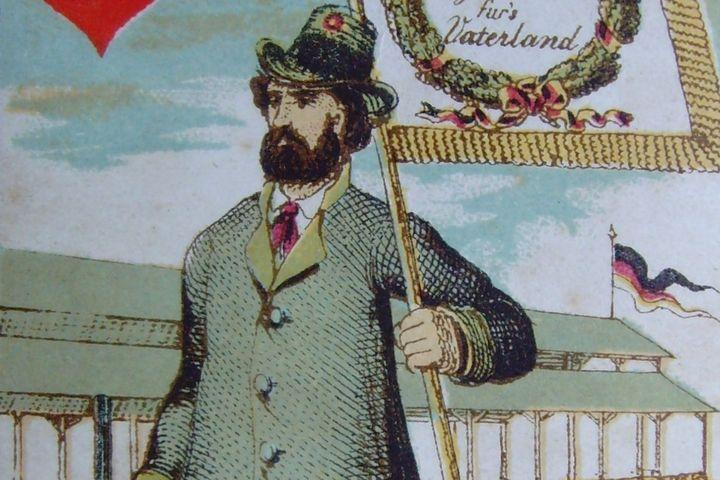 Spielkarte Herzkönig, 1862