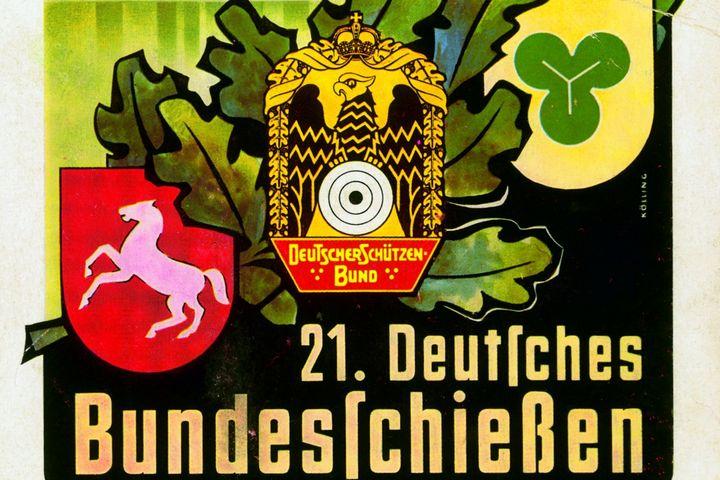Plakat Bundesschießen Hannover, 1955