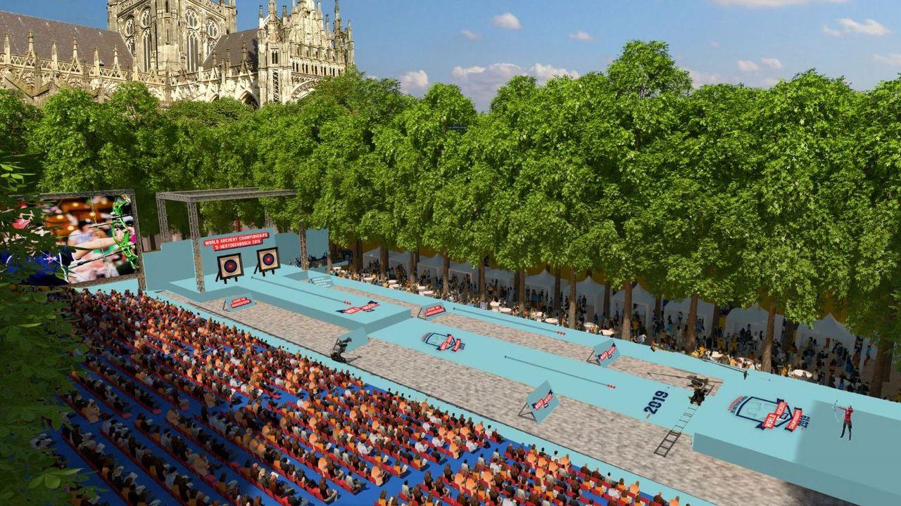 Grafik: WA / Das Ziel der Begierde - das Finalstadion in Herzogenbusch.