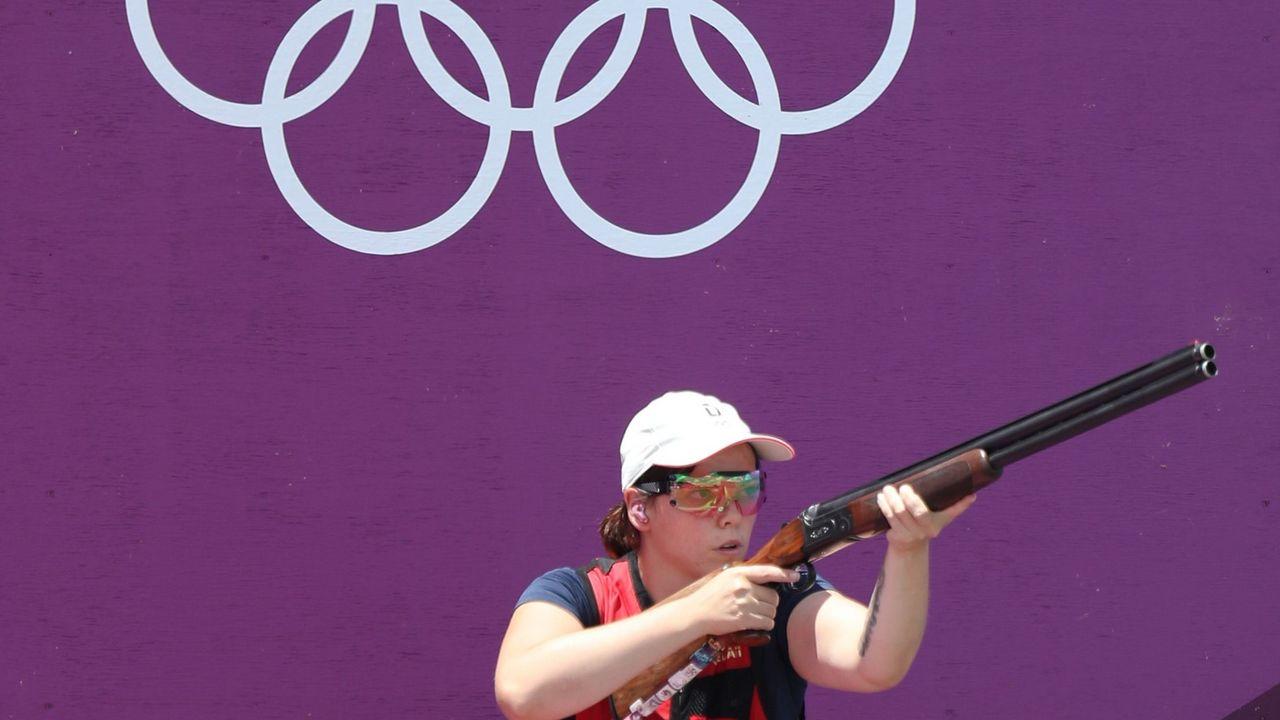 Foto: Picture Alliance / Toller Premieren-Auftritt unter den Olympischen Ringen: Nadine Messerschmidt in Tokio.