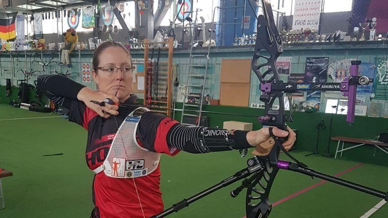 Foto: Unruh / Im Sportforum in Berlin schoss Lisa Unruh den ersten Wettkampf bei der Indoor Series.