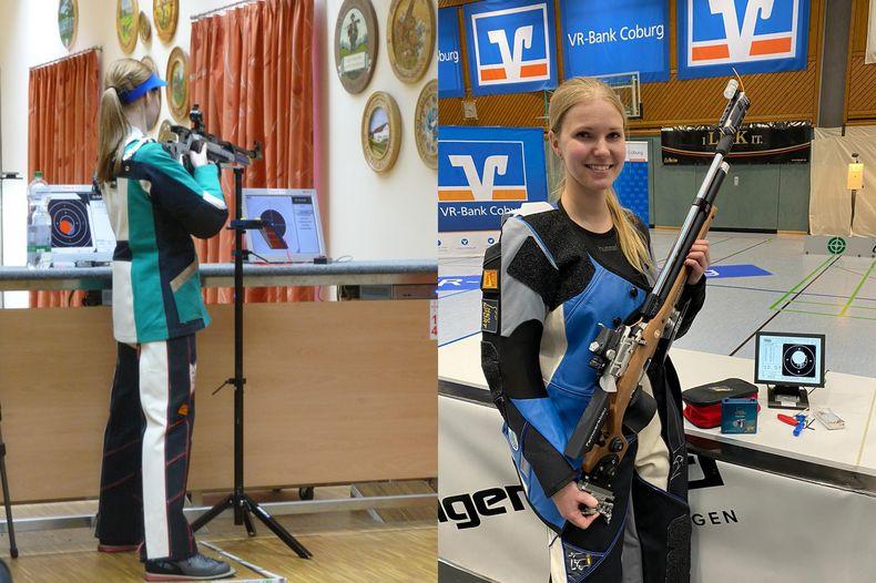 Bild: Erber/Ettner / Denise Erber im Vergleich: Links bei ihrem allerersten Wettkampf, rechts nach ihrem 400er-Triumph gegen Sonja Pfeilschifter in der Bundesliga.