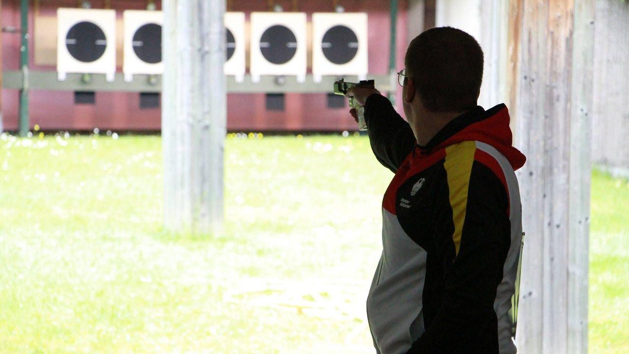 Foto: DSB / Bester Mann mit der Schnellfeuerpistole: Christian Reitz.