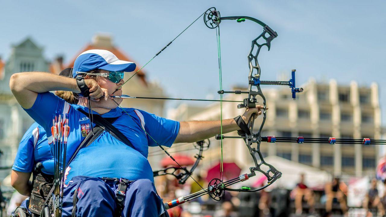 Foto: World Archery Europe / David Drahoninsky zählt im paralympischen Bogenschießen zu den absoluten Top-Stars.