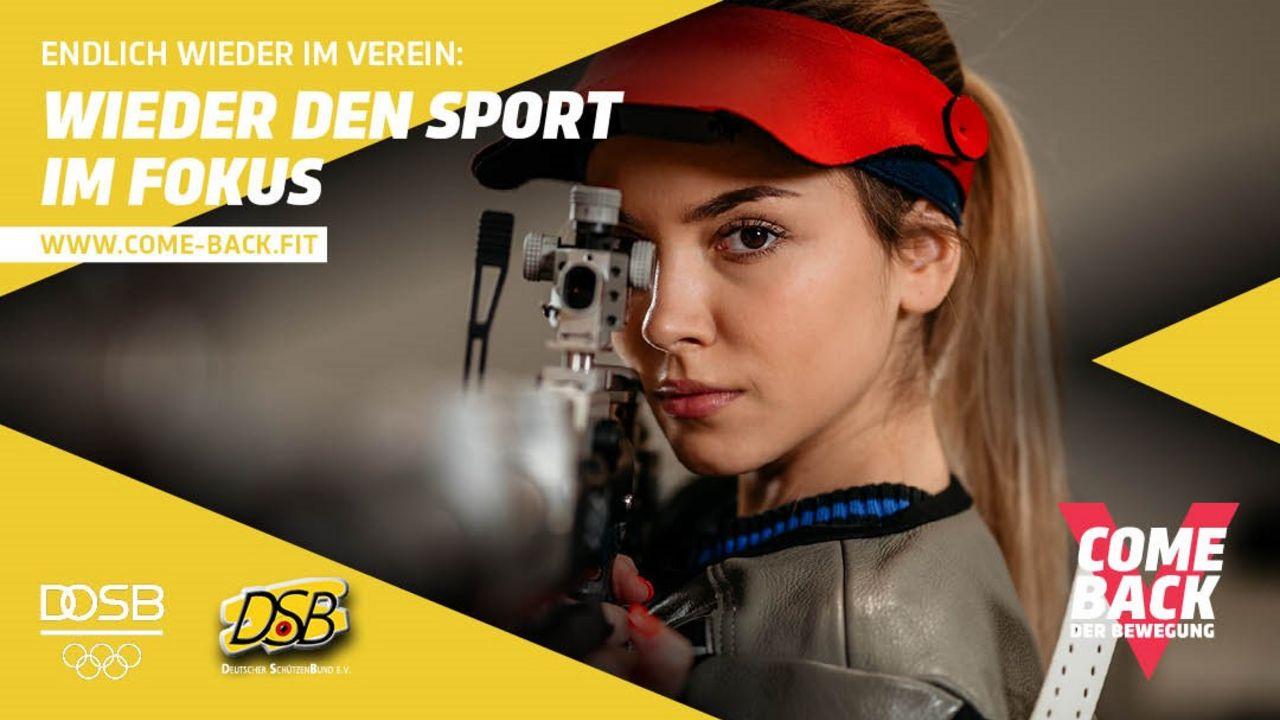 Foto: DSB / Der DSB bietet mehrere Motive zur Comeback-Kampagne an, die Vereine allesamt nutzen können.