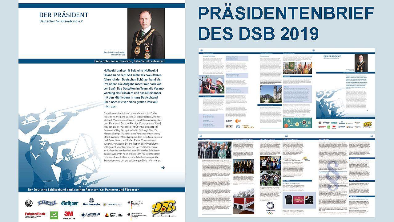 Foto: DSB / So sieht er aus, der Präsidentenbrief 2019.