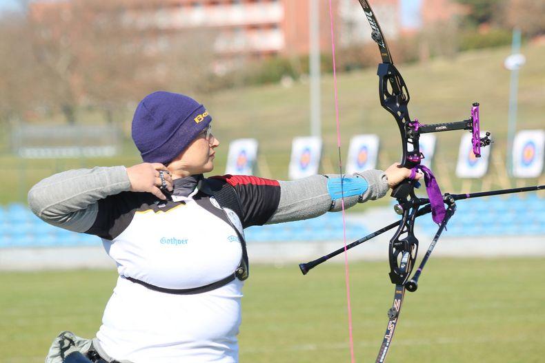 Foto: Archery Europe / Veronika Haidn Tschalova war als Vierte bestes DSB-Schützin in Porec.