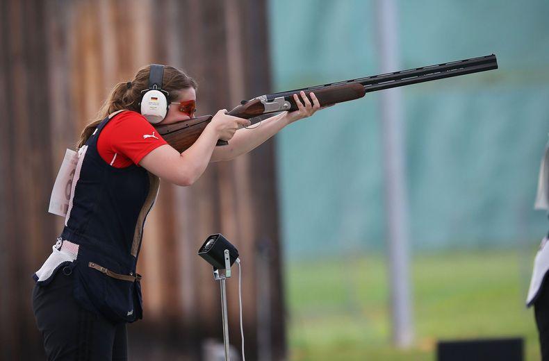 Foto: Florian Wüst / Christin Hilmer sichert sich die Goldmedaille.
