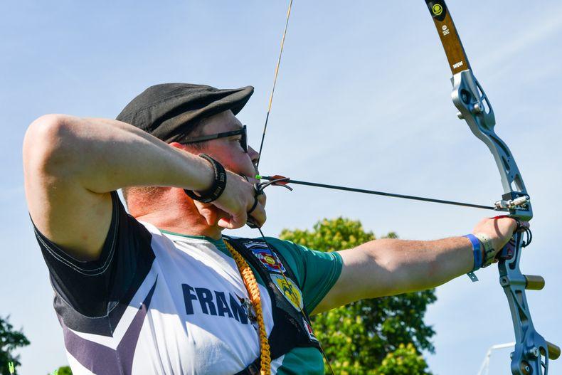 Foto: Eckhard Frerichs / Frank Plitt stellte mit dem Blankbogen einen neuen Deutschen Rekord in der Mastersklasse auf.