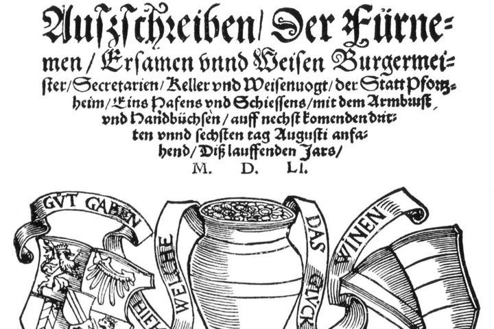 Ladbrief Pforzheim, 1551