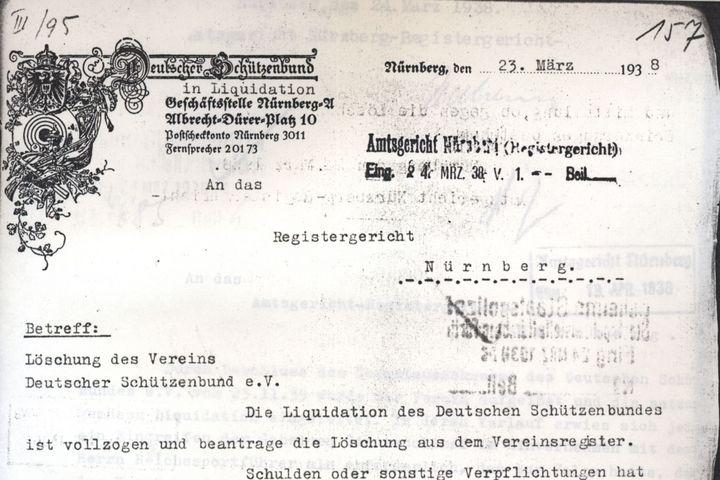 Zwangsliquidierung, 1938