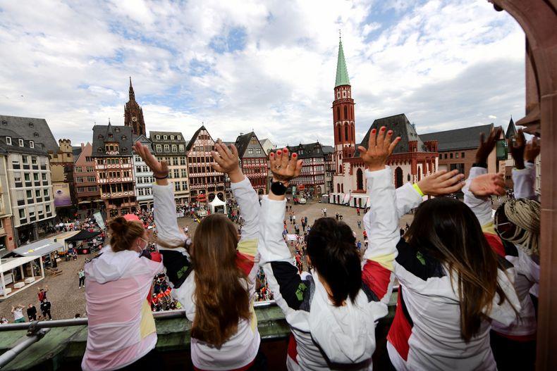 Bild: Team Deutschland / Picture Alliance / Ein gemeinsamer Abschluss als Team D stärkte noch einmal das Teamgefühl.