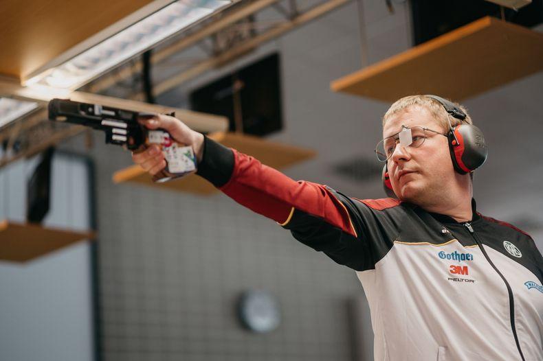 Foto: DSB / Christian Reitz bereitet sich abschließend in München auf die Olympischen Spiele vor.