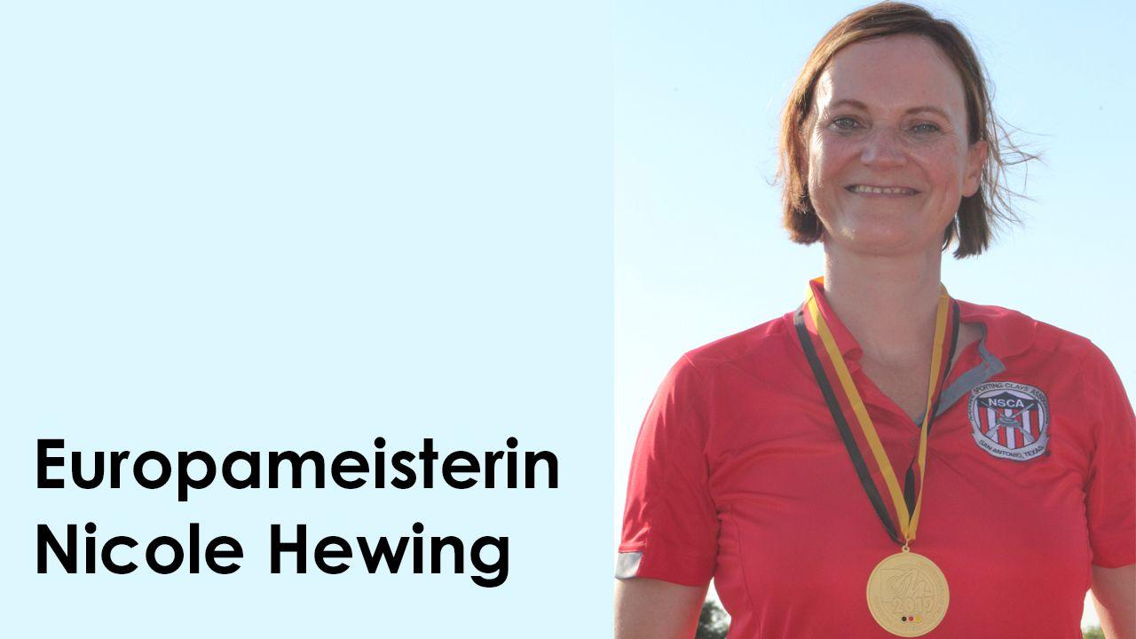 Foto: Michael Eck / Nicole Hewing ist nach ihrem letztjährigen DM-Titel nun auch zweifache Europameisterin 2020.