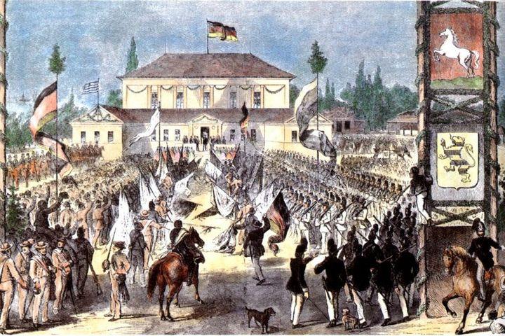 Schützenplatz/Aufmarsch Gotha, 1861