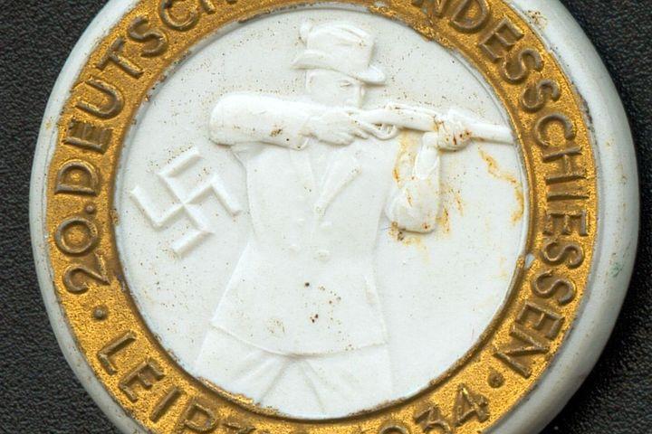 Porzellanmedaille Meissen Bundesschießen, 1934