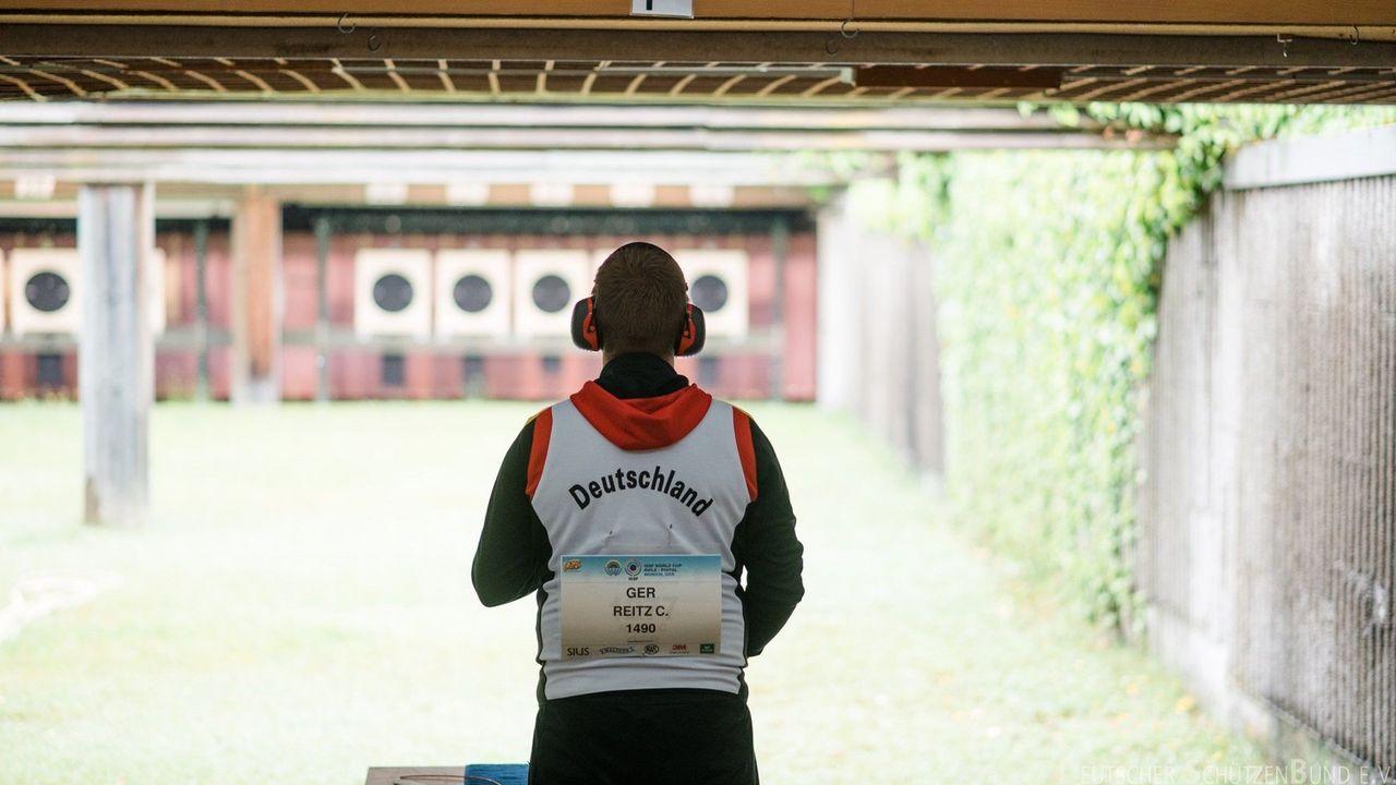Foto:DSB / Der Olympiasieger und der Schnellfeuerschießstand.