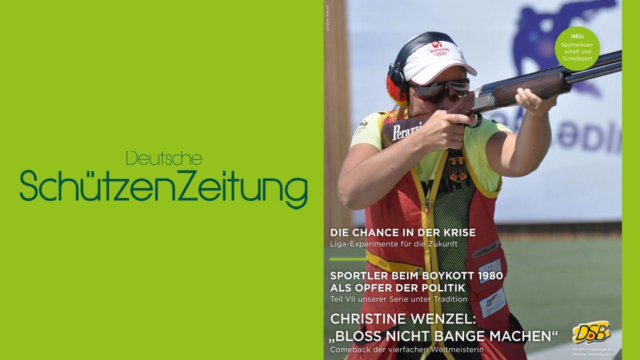 Bild: DSB / Christine Wenzel schafft es mit ihrem Comeback sofort auf die Titelseite der neuen DSZ-Ausgabe.